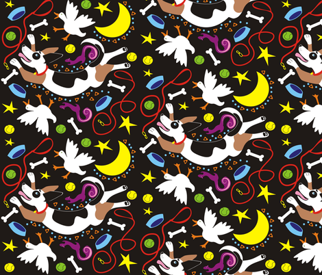 silly_dog fabric by valcheck on Spoonflower - custom fabric