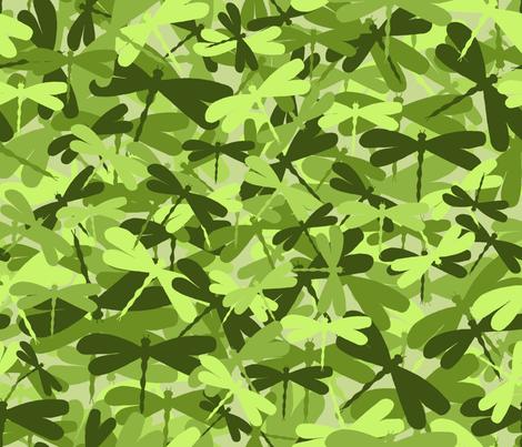 dragonflyge_lime green fabric by uzumakijo on Spoonflower - custom fabric