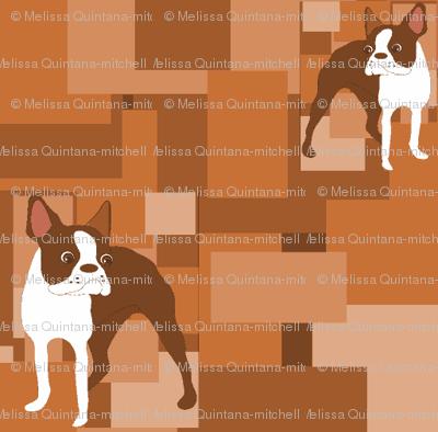 Duke, the Brown Boston Terrier tiles