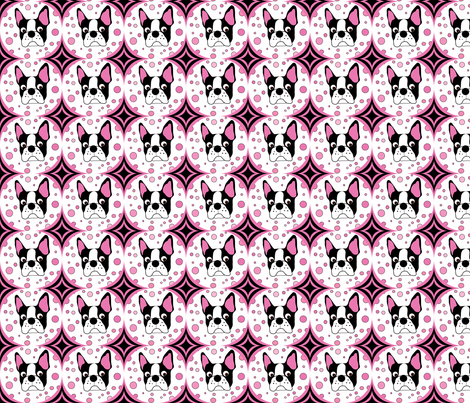 Spike the Boston Terrier Repeat fabric by missyq on Spoonflower - custom fabric