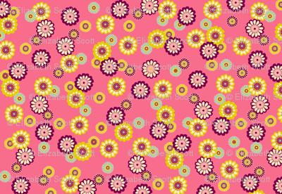 Mod Flowers Pink
