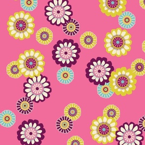 Mod Flowers Pink