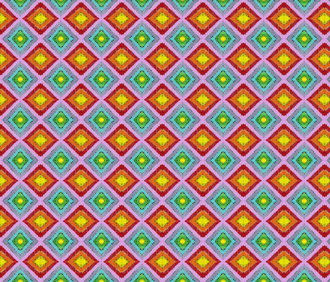Diamond Spectrum Black fabric by jan4insight on Spoonflower - custom fabric