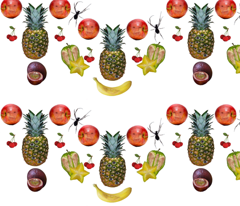 Surreal Daughter Fruit Chain fabric by upcyclepatch on Spoonflower - custom fabric