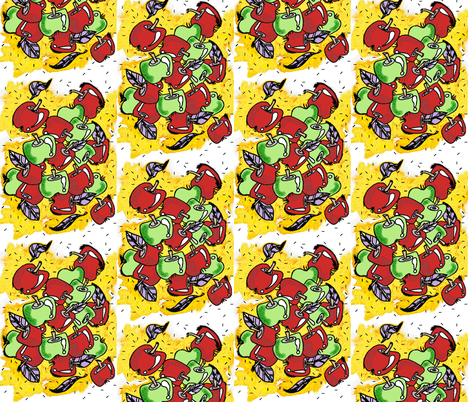 Abby_Strat__Apples fabric by cyndilou on Spoonflower - custom fabric