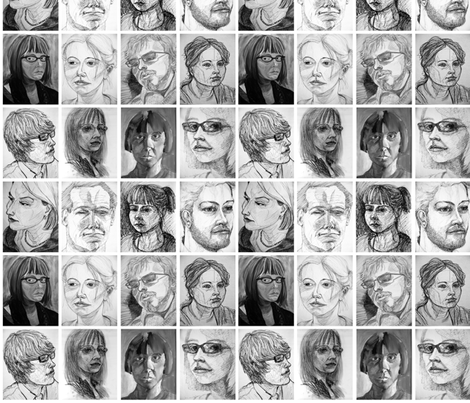 portraits fabric by hollishammonds on Spoonflower - custom fabric