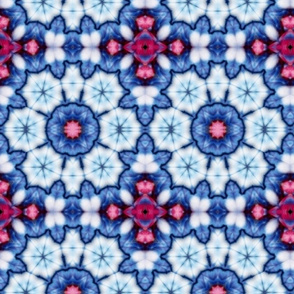 cool china blue kaleidoscope