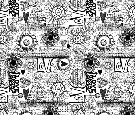 Love Grows Here fabric by nancierowejanitz on Spoonflower - custom fabric