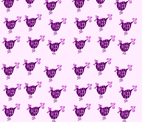 tweets-ed fabric by merrymadequilts on Spoonflower - custom fabric