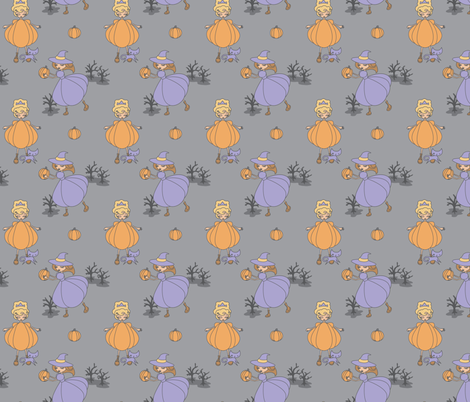 Pumpkin Promenade fabric by jillianmorris on Spoonflower - custom fabric
