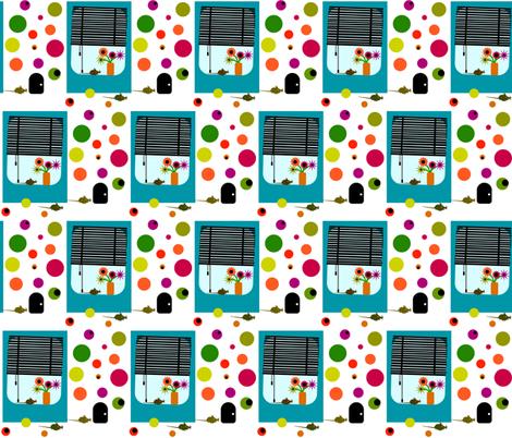 Window gazing mice. fabric by bee_smiles on Spoonflower - custom fabric