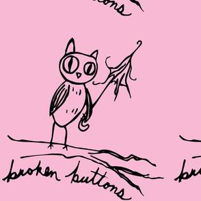 broken buttons owl