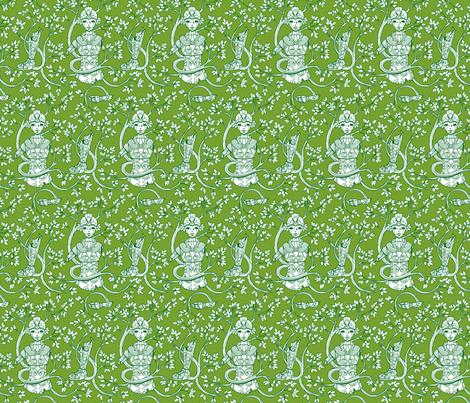 Forgotten Robot Green fabric by jillianmorris on Spoonflower - custom fabric