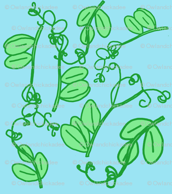 Snap Pea Tendrils Pattern