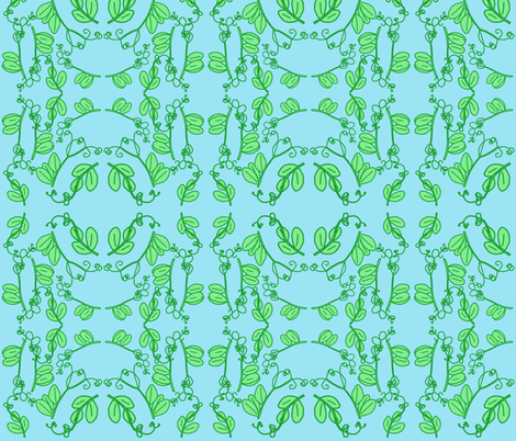 Snap Pea Tendrils Pattern fabric by owlandchickadee on Spoonflower - custom fabric