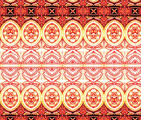 Orange Texas fabric by frances_hollidayalford on Spoonflower - custom fabric
