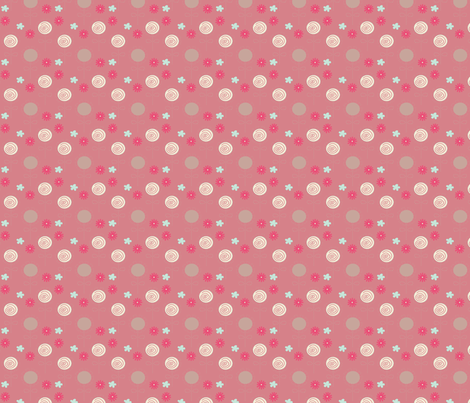 Flower Swirl Pink fabric by sbd on Spoonflower - custom fabric