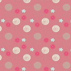 Flower Swirl Pink