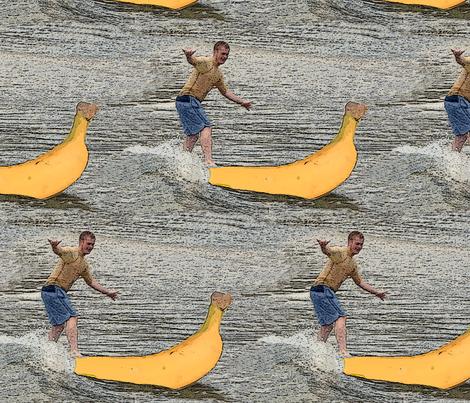 surfing_banana fabric by kaeledra on Spoonflower - custom fabric