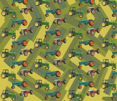 tractors5 fabric by hollishammonds on Spoonflower - custom fabric