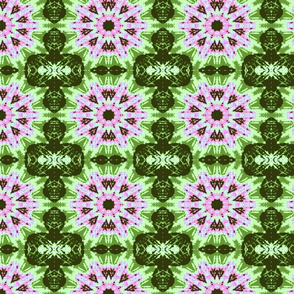 pink n green kaleidoscope burst