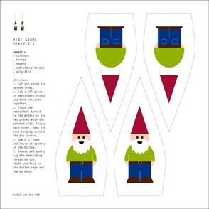 Mini Gnome Ornament - Green