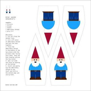 Mini Gnome Ornament - Blue