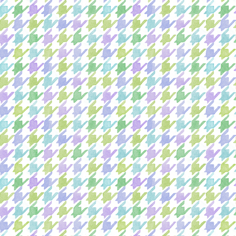 Houndstooth - Multi-Colored fabric by pattysloniger on Spoonflower - custom fabric