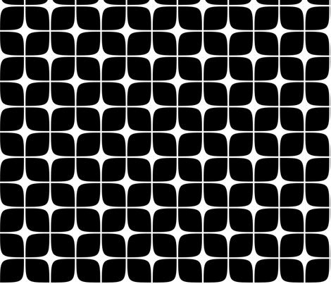 Modern Deco Black fabric by flis on Spoonflower - custom fabric