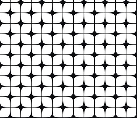 Modern Deco Black & White fabric by flis on Spoonflower - custom fabric