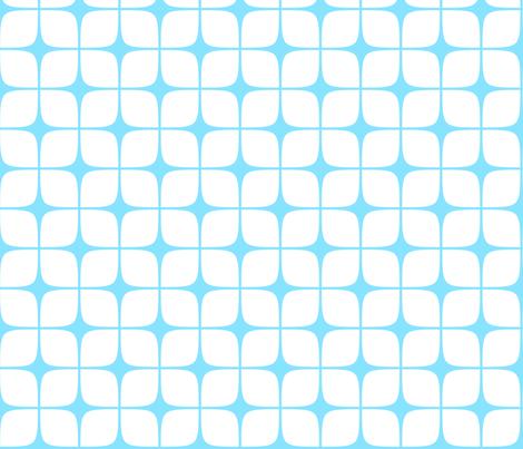 Modern Deco Blue & White fabric by flis on Spoonflower - custom fabric