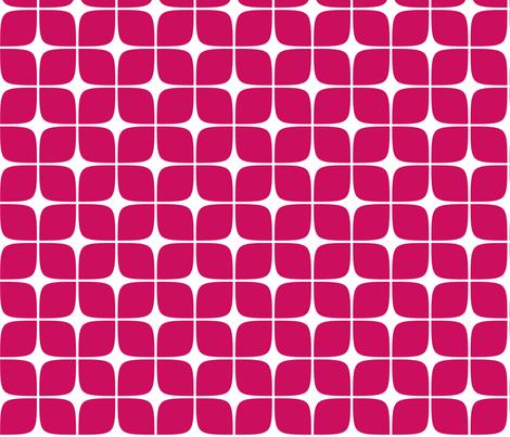 Modern Deco Red fabric by flis on Spoonflower - custom fabric