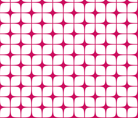 Modern Deco Red & White fabric by flis on Spoonflower - custom fabric