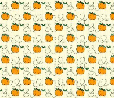Pumpkin Strings fabric by donnamarie on Spoonflower - custom fabric