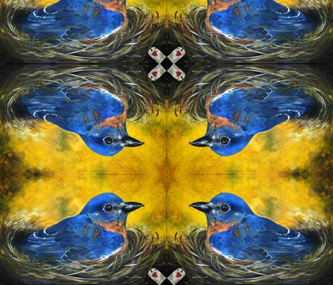 bluebird_large-ed fabric by paula_lansford_llc on Spoonflower - custom fabric