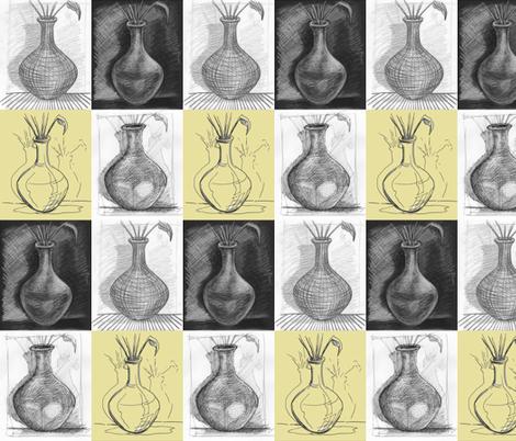 rows_vases fabric by hollishammonds on Spoonflower - custom fabric