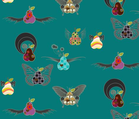 fruit_flies fabric by snork on Spoonflower - custom fabric