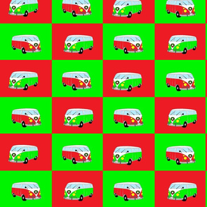 VW_Bus_Christmas_Fabric
