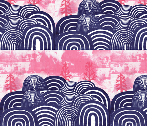 blue hills  fabric by leonielovesyou on Spoonflower - custom fabric