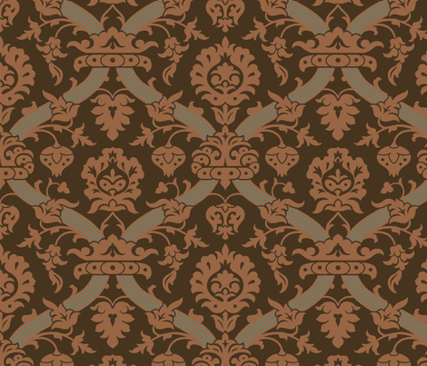 Damask VA1b fabric by muhlenkott on Spoonflower - custom fabric