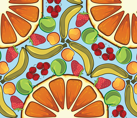 vitamin c fabric by matthandlersux on Spoonflower - custom fabric