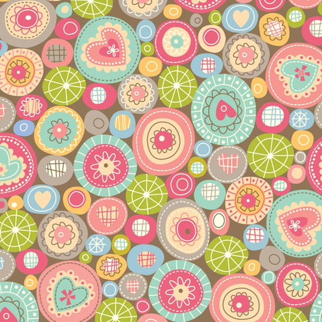 fun_circles fabric by amel24 on Spoonflower - custom fabric