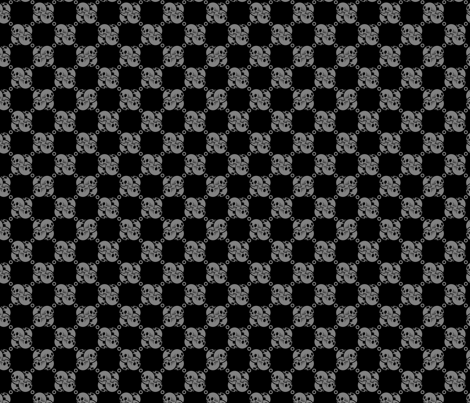 Skulluxe interlocked skull check - grey fabric by skulluxe on Spoonflower - custom fabric