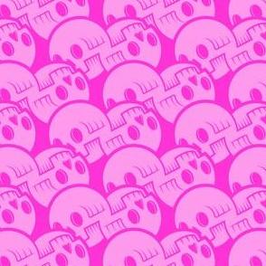 Skulluxe pink scalloped skulls