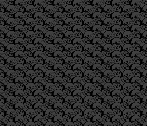Skulluxe grey scalloped skulls fabric by skulluxe on Spoonflower - custom fabric