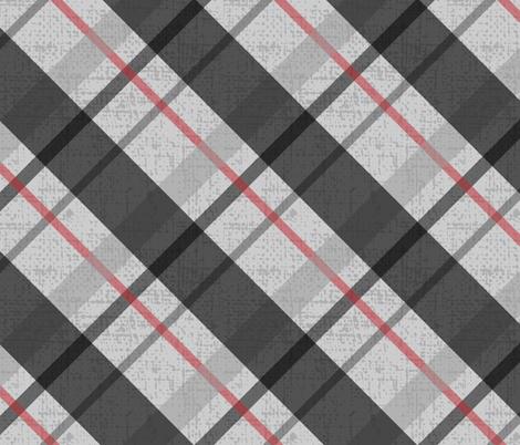 Diagonal Plaid - 1 fabric by owlandchickadee on Spoonflower - custom fabric