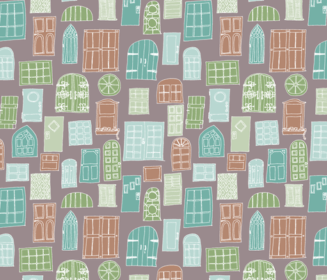 At My Door fabric by leighr on Spoonflower - custom fabric