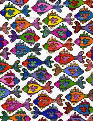 manyfrillyfishcoloronwhite