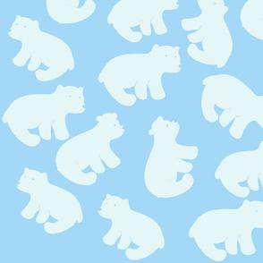 Polar bear cubs-light blue