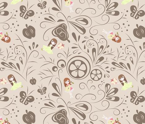 Fairyland fabric by rhinestic on Spoonflower - custom fabric